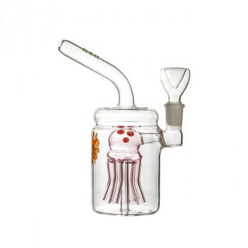 Glass Bubbler Jellyfish Jar Percolator Bong