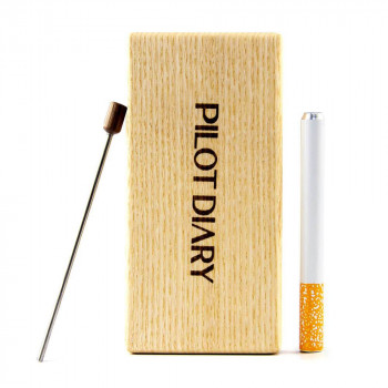 Pride Accessory Wood Dugout With Cleaning Tool