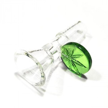 Glass Bowl 14mm Male Joint Leaf Glass Bowl