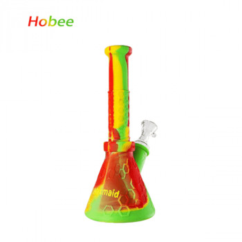 """Silicone Bong 8.7"""" Hobee Silicone Beaker Water Pipe"""