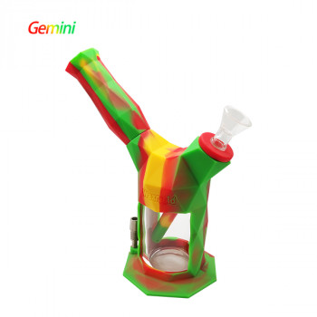 Silicone Bong Waxmaid Gemini 2-IN-1 Silicone Glass Bubbler & Nectar Collector